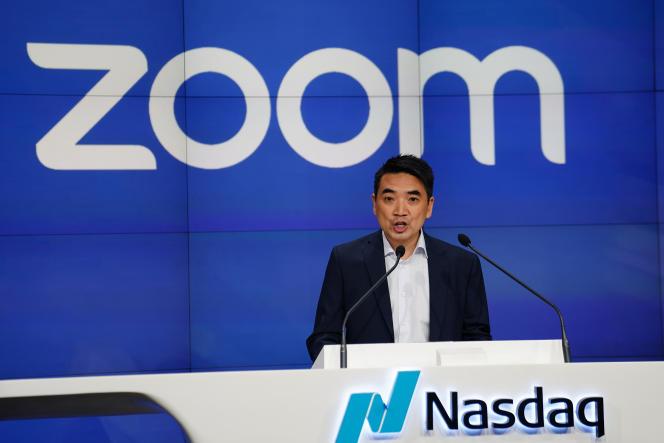 Eric Yuan, patron de la plate-forme américaine de visioconférence Zoom, à New York, en avril 2019.