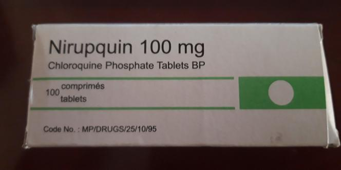 Une boîte de Nirupquin achetée au marché Keur Serigne Bi, le principal lieu de vente de faux médicaments de Dakar, en mai 2020.