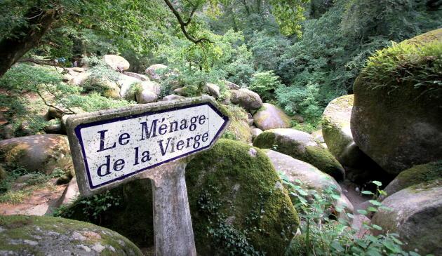 La forêt d'Huelgoat, dans le Finistère.