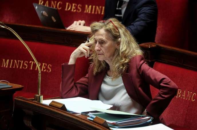 La ministre de la justice, Nicole Belloubet, à l'Assemblée nationale, le 7 mai.