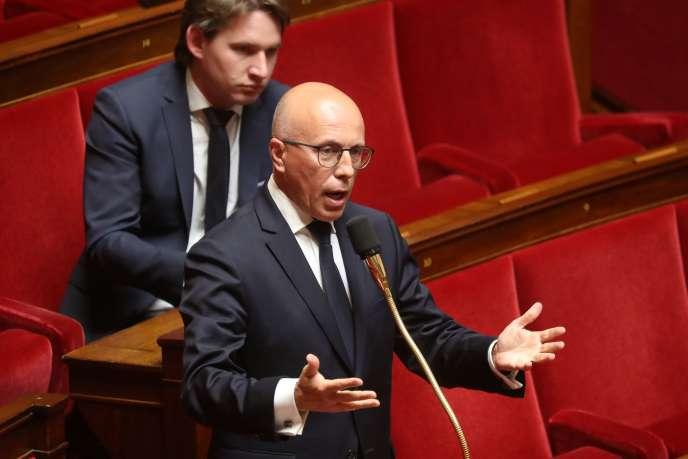Le député Les Républicains Eric Ciotti, à l'Assemblée nationale, le 7 mai.