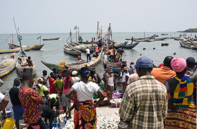 Le port de Tombo, en Sierra Leone, en avril 2019.
