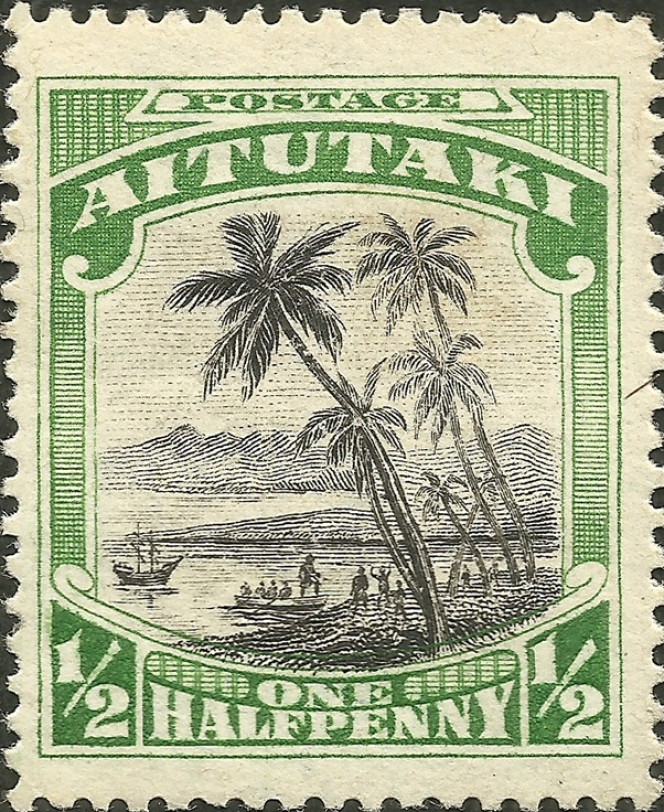 Timbre propre à Aitutaki (1920).