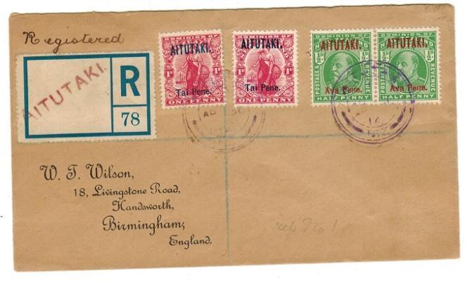 Lettre recommandée de 1942 d'Aitutaki pour l'Angleterre, 120 livres sterling chez Steve Drewett.