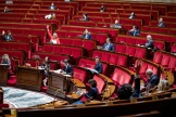 L'hémicycle de l'Assemblée nationale, à Paris, le 8 mai.