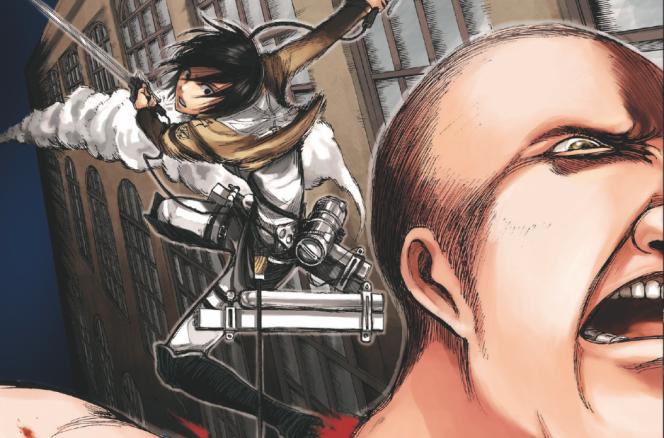Couverture du tome 2 « L'Attaque des Titans », par Hajime Isayama.