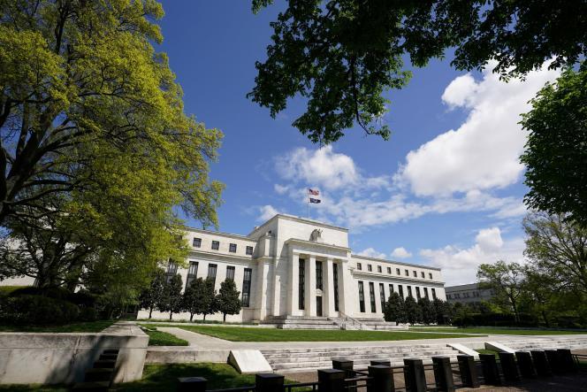 La Réserve fédérale américaine, à Washington, le 1er mai.