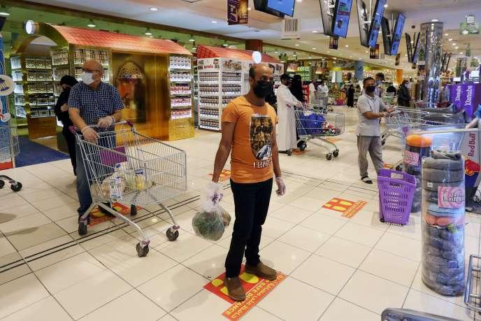 Dans un centre commercial, à Riyad, en Arabie saoudite, le 2 mai.