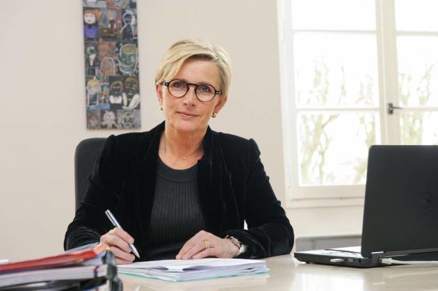 Marie-Hélène Thoraval, maire de Romans-sur-Isère (Drôme).