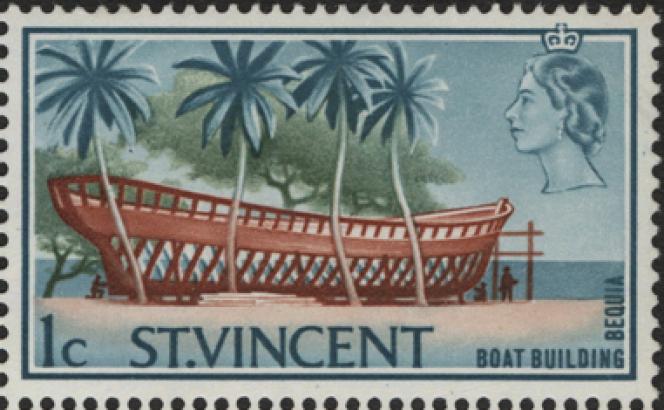 Version corrigée du timbre avec légende« Bequia» (1967).