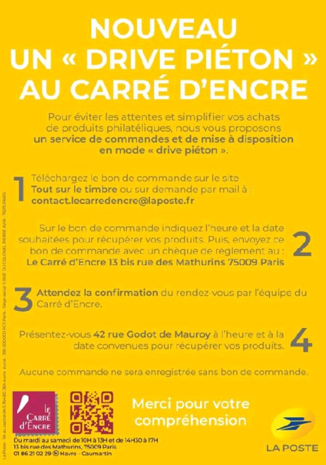 Capture d'écran de la page Facebook du Carré d'Encre.