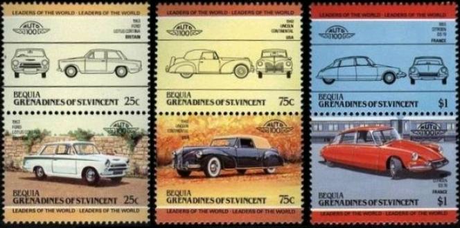 Le grand n'importe quoi avec ces timbres sur l'histoire de l'automobile.