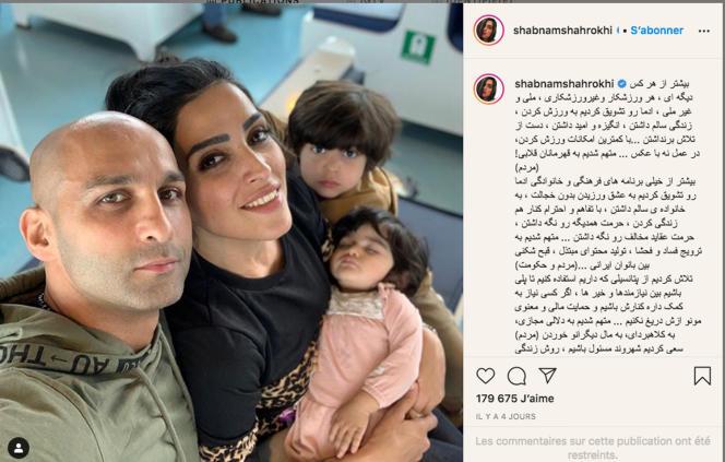 Le compte Instagram d'Ahmad Moinshirazi et de son épouse, Shabnam Shahrokhi, n'a pas été du goût des gardiens de la révolution. En cause, notamment, le non-respect du port du voile.
