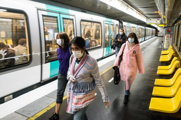 A la station Franklin-Roosevelt, dans le 8e arrondissement de Paris, lundi matin.