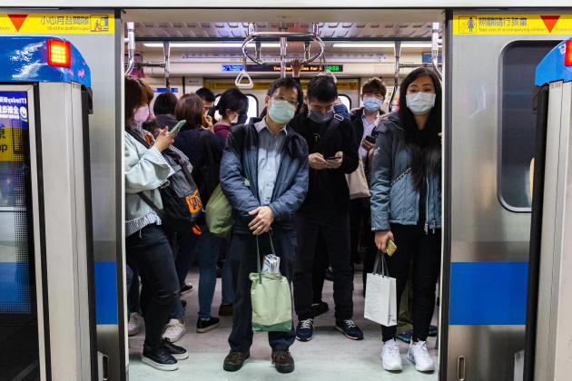 Le métro de Taipei, à 18heures, heure de pointe.