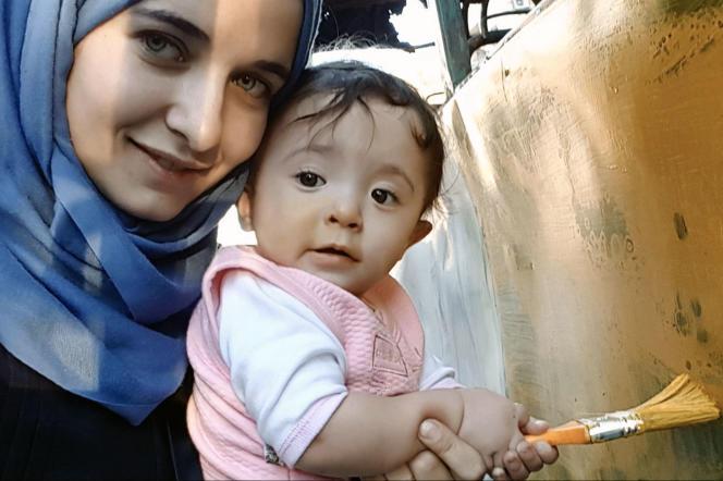 Waad Al-Kateab et sa fille Sama.
