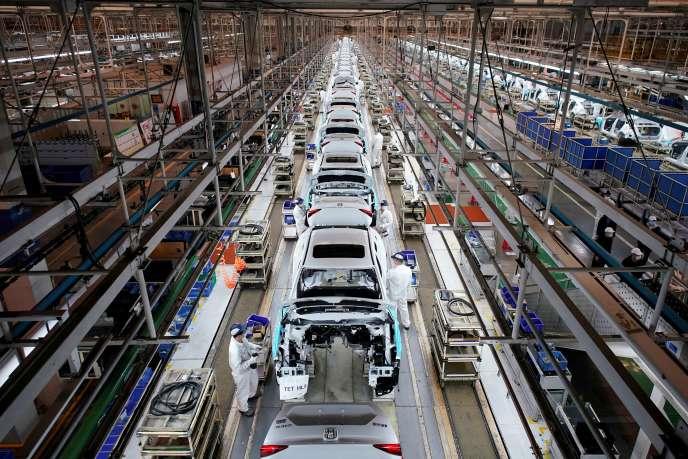 Une usine Honda à Wuhan, en Chine, le 8 avril 2020.