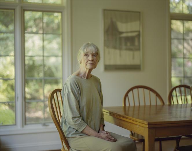 L'écrivaine américaineAnne Tyler, chez elle à Baltimore (Maryland), en 2018.