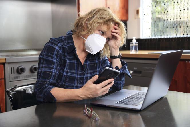 Téléconsultation pendant l'épidémie due au coronavirus.
