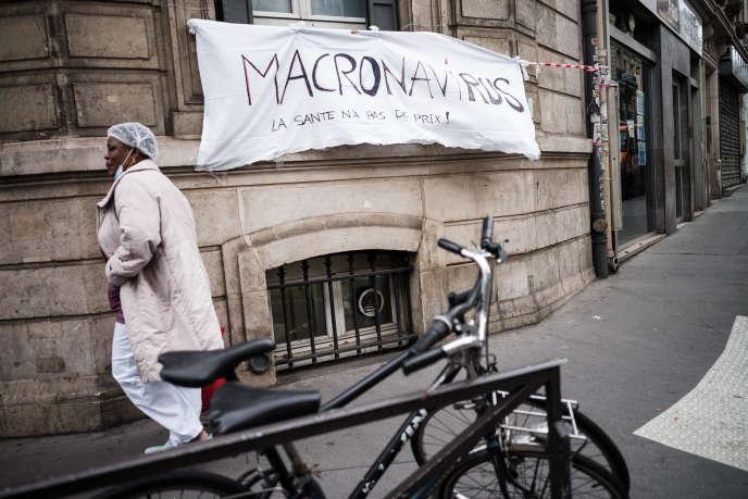 Lors de la journée internationale des travailleurs, le 1er Mai, à Paris.