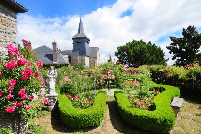 La roseraie des jardins Le Sidaner.