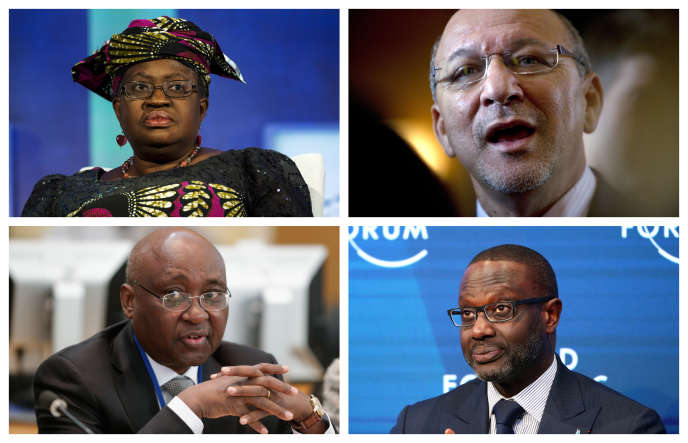De gauche à droite et de haut en bas : Ngozi Okonjo-Iweala, Trevor Manuel, Donald Kaberuka et Tidjane Thiam.