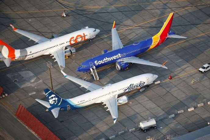 Les 737 MAX de Gol Airlines, Southwest Airlines et Alaska Airlines en septembre 2019 dans l'état de Washington.