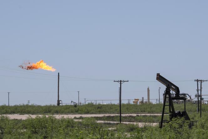Près d'Odessa (Texas), dans le bassin permien, le 24 avril.