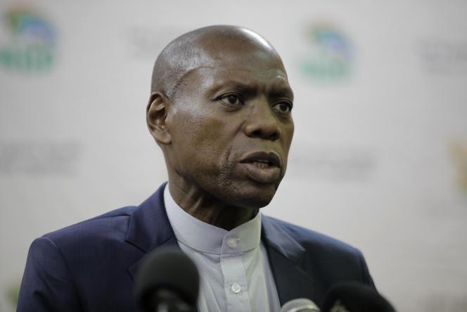 Zweli Mkhize, à Polokwane, le 12mars 2020.