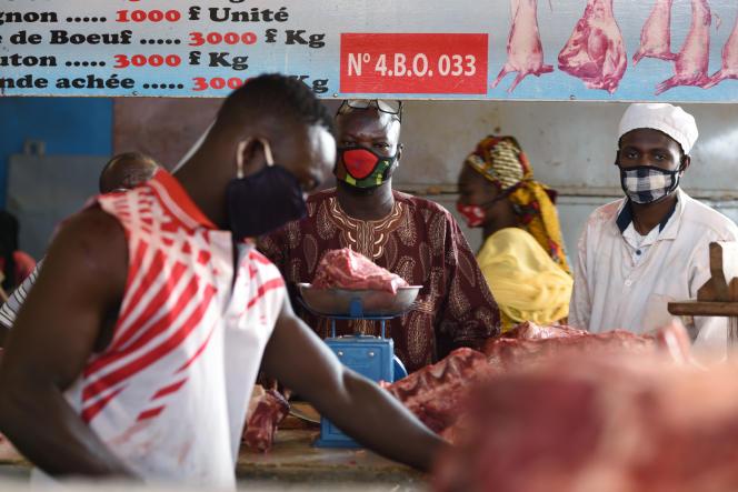 Dans le marché central de Ouagadougou, le 20 avril 2020.