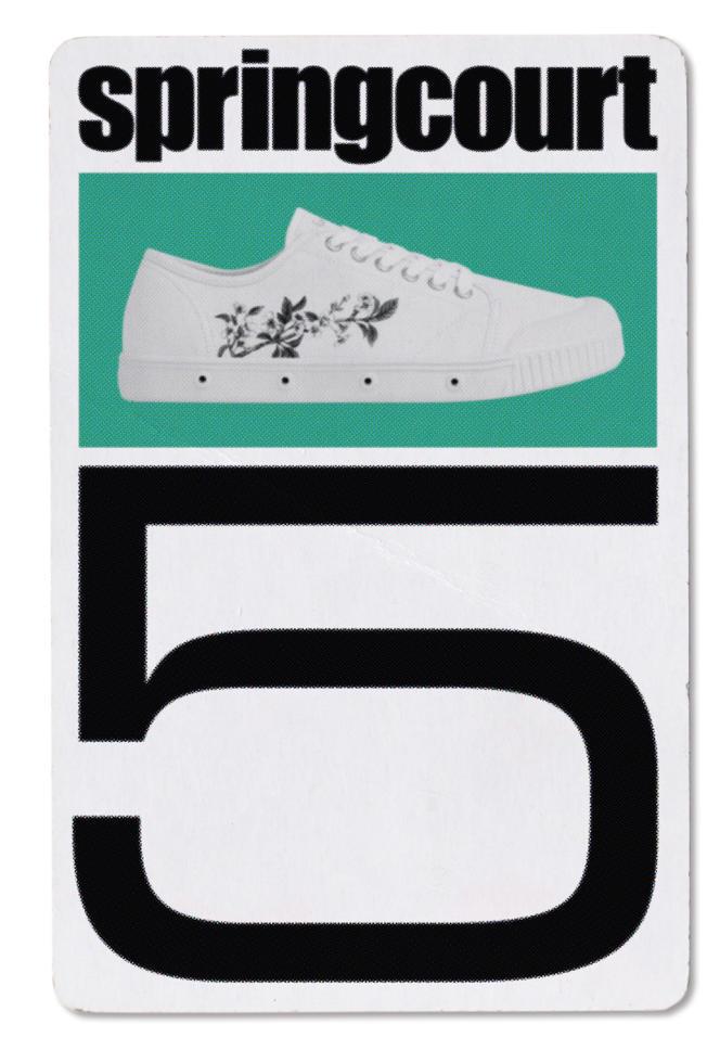 Tennis G2 Canvas, impression sérigraphiée, Yui Taniguchi pour Spring Court, 130€.