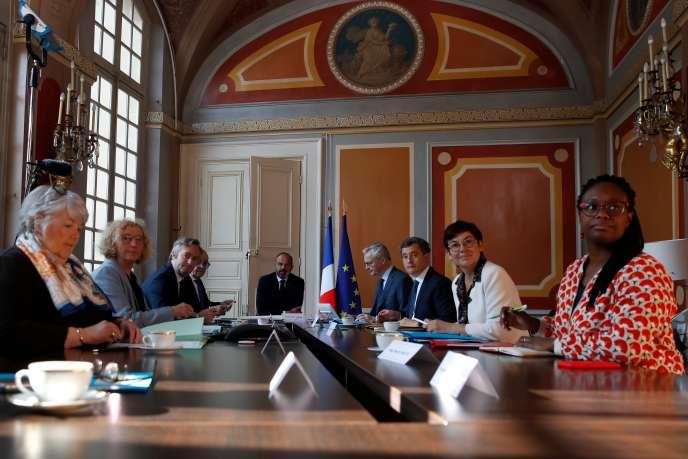 Comité interministériel du tourisme, réuni à Matignon (Paris), le 14 mai.
