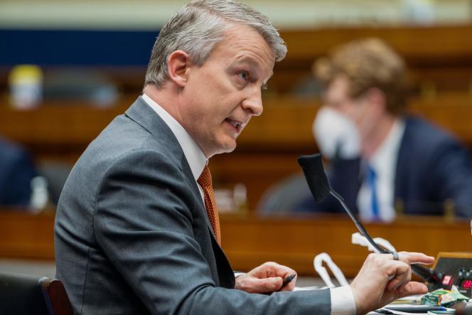 Le docteur Richard Bright devant une commission de la Chambre des représentants, à Washington (Etats-Unis), le 14mai2019.