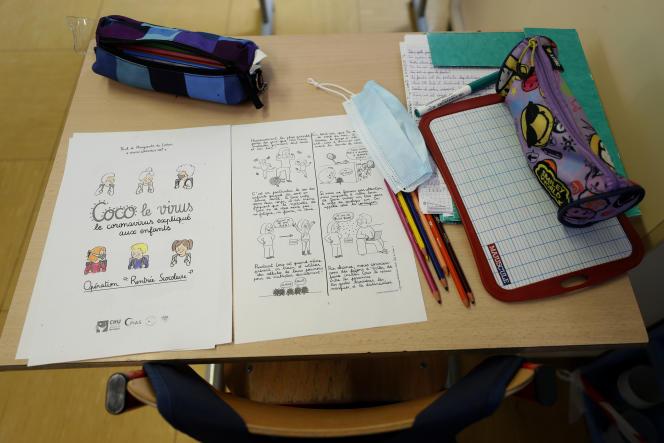 Dans une école primaire de Strasbourg, le 14 mai 2020.