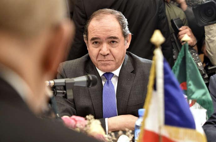 Le ministre algérien des affaires étrangères Sabri Boukadoum a qualifié les propos de l'ambassadeur du Maroc de« violation grave des us et coutumes diplomatiques». Ici, à Alger, le 12 mars 2020.