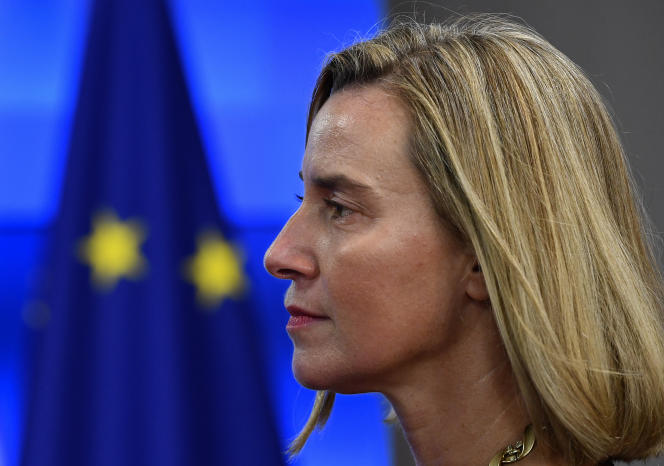 Federica Mogherini, le 11 novembre 2019, alorshaute représentante de l'UE pour les affaires étrangères.