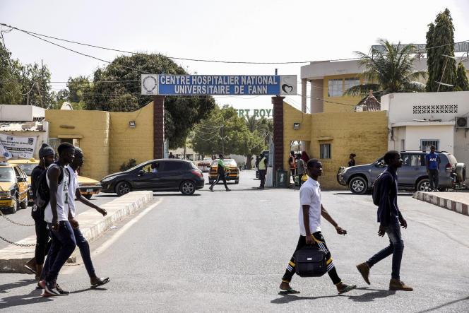 L'entrée de l'hôpital de Fann, à Dakar, le 2mars 2020.