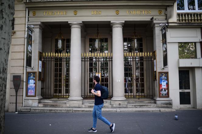 Le Théâtre des Variétés, à Paris, le 17 avril 2020.