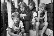 Dylan, Laura, Johanna et Erik, les quatre enfants de Judith Black, juillet 1982.