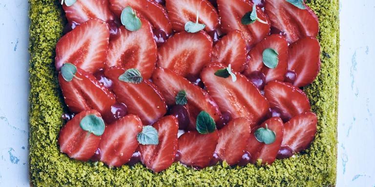 Sablé breton aux fraises de Christophe Adam