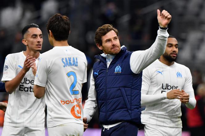 André Villas-Boas, l'entraîneur de Marseille, après une victoire contre Toulouse en février 2020.