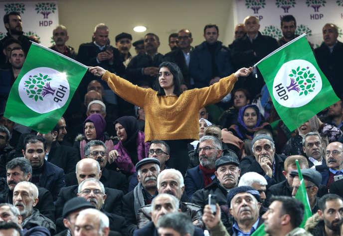 Congrès du HDP le 23 février à Ankara.