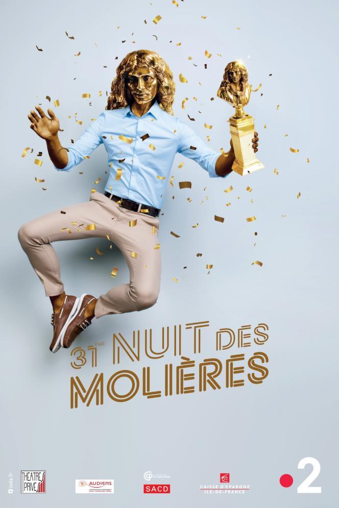 L'affiche de la 31e nuit des Molières.
