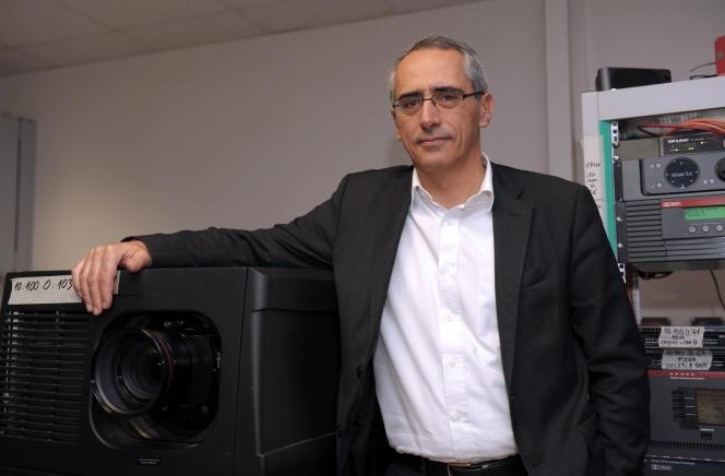 Jean Mizrahi, président et cofondateur du groupe Ymagis, à Montrouge (Hauts-de-Seine), en décembre 2013.