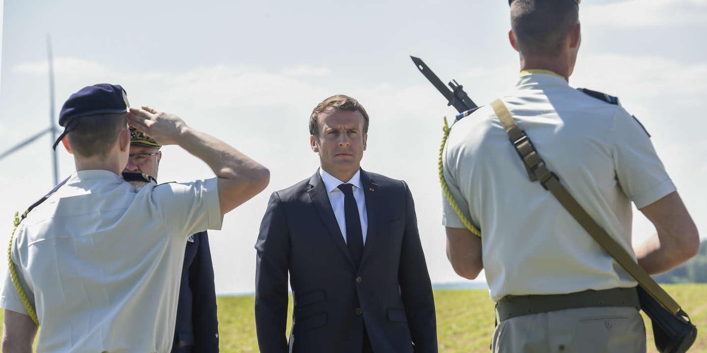 Dans l'Aisne, Emmanuel Macron cherche à s'inspirer de «l'esprit de résistance» du général de Gaulle