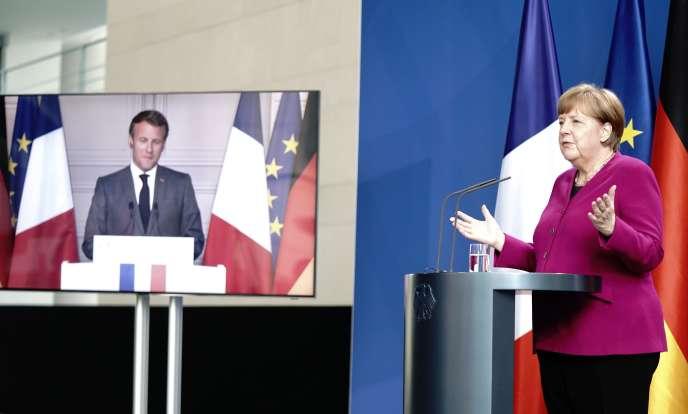 Emmanuel Macron et Angela Merkel, le 18mai.