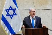 Benyamin Nétanyahou, à la Knesset, à Jérusalem, le 17 mai 2020.