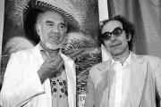 Michel Piccoli et Jean-Luc Godard, en mai 1982, au Festival de Cannes.