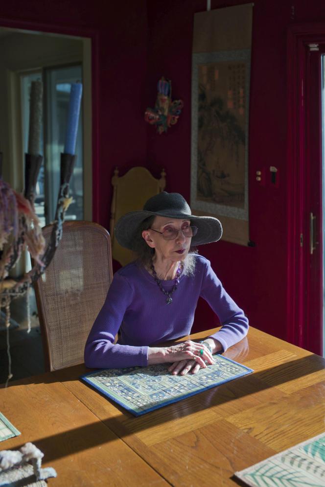 L'écrivaine américaine Joyce Carol Oates, à New York, en mars 2020.