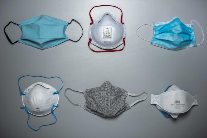 Masques de protection contre l'épidémie de Covid-19.